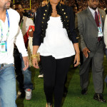 Jennifer Hudson (and her Outfit) a Hit at Super Bowl XLII