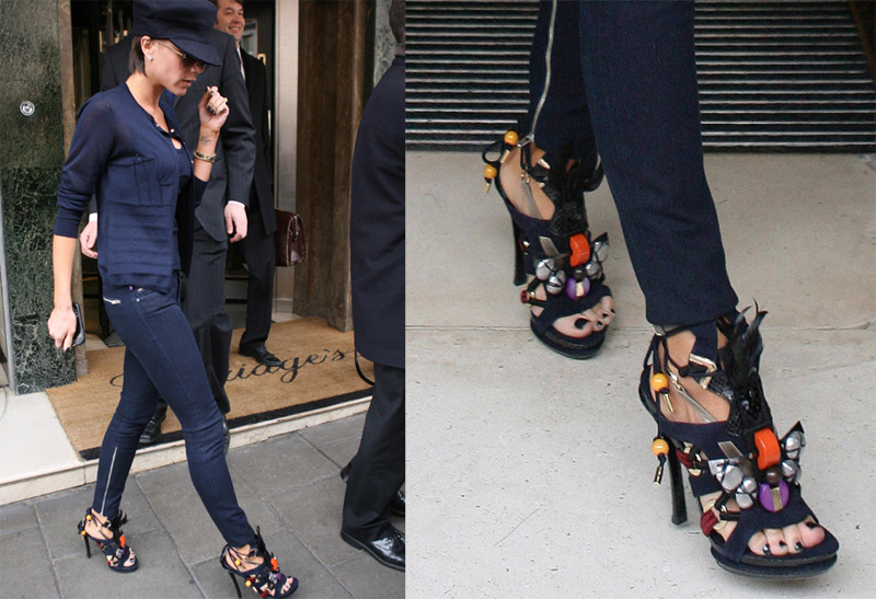Victoria Beckham Demos How To Wear Outrageous Louis Vuitton Shoes