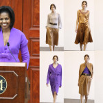 Michelle Obama Wears Mizrahi Pre-Fall to Met Ribbon Cutting