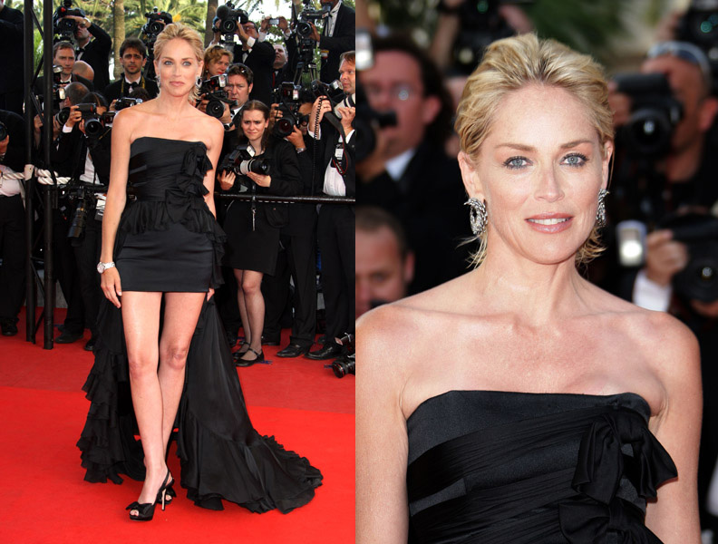 sharon-stone-inglourious-basterds-premiere-cannes-side-by-side