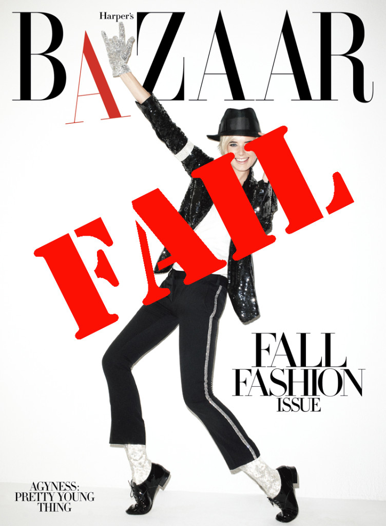 harpers bazaar agyness deyn michael jackson tribute fails miserably cover