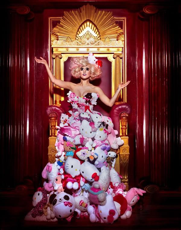 Lady Gaga hello kitty dress