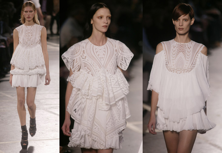 givenchy delicate ruffles spring 2010