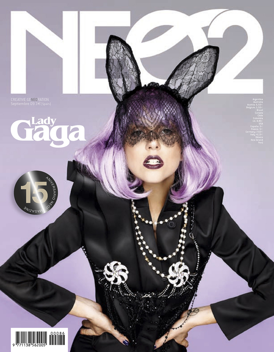 lady gaga september neo2 maison michel lace ears