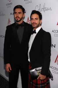 Lorenzo Martone and designer Marc Jacobs ace awards