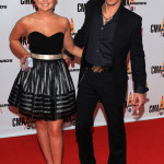 Meghan Linsey and Joshua Scott Jones of Steel Magnolia attend the 43rd Annual CMA Awards