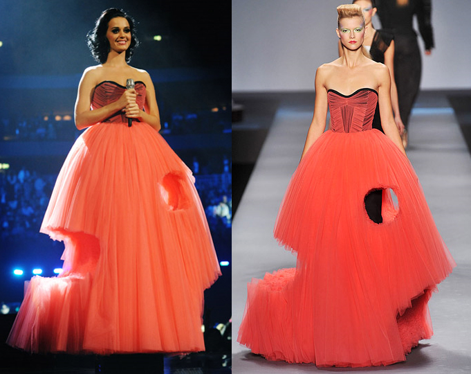 katy perry wears viktor and rolf spring 2010 mtv europe music awards