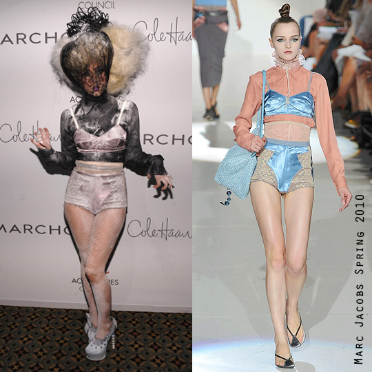 lady gaga given stylemaker award wearing marc jacobs