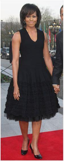 Michelle Obama Azzedine Alaia Black Dress