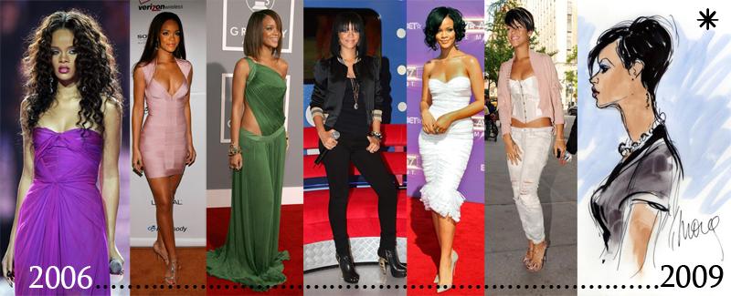Rihanna Style Evolution