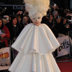 Lady Gaga as a Snow Woman - Brit Awards 2010