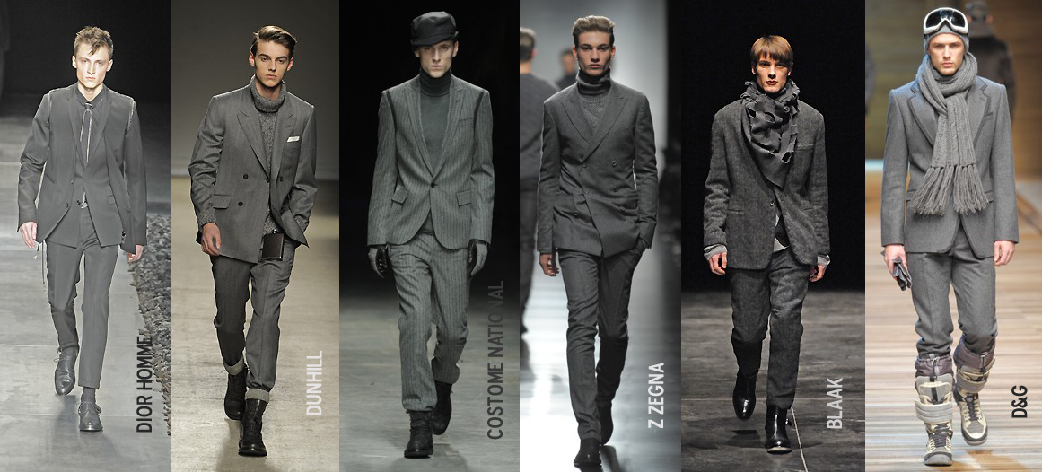 mens fashion designer trends 2010 grey neutrals the