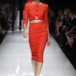 VERSACE WOMEN SPRING/SUMMER 2011: Bold Color, High Waists, & Plenty of Fringe