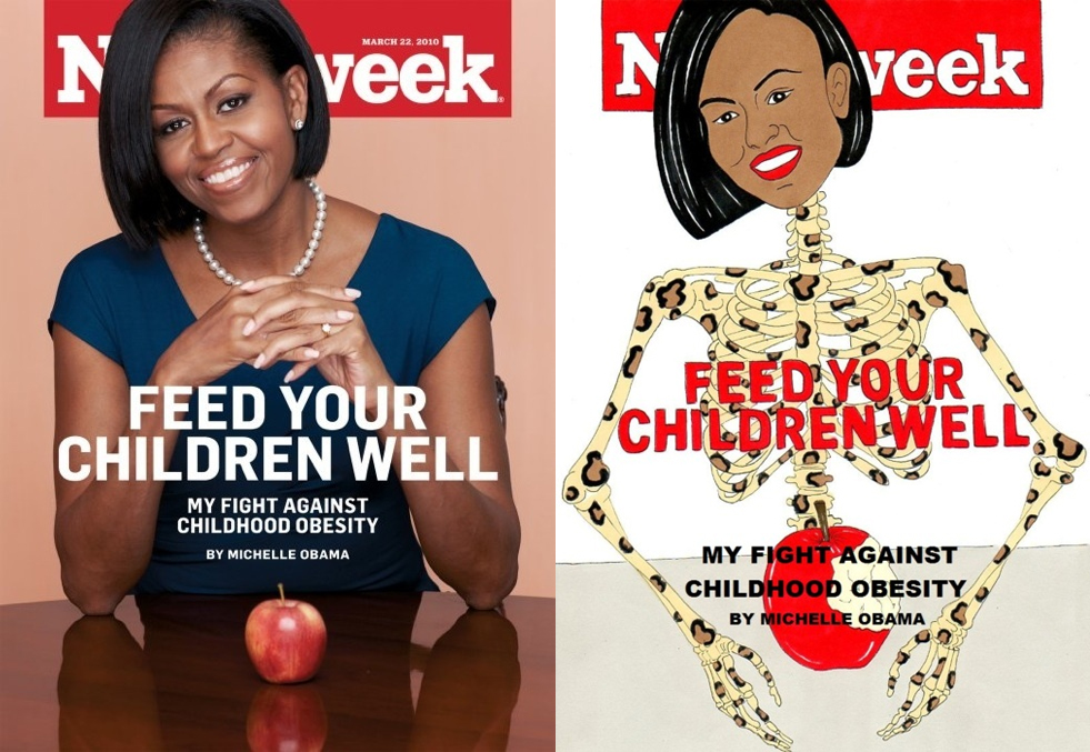 michelle obama newsweek illustration by aleXsandro Palombo