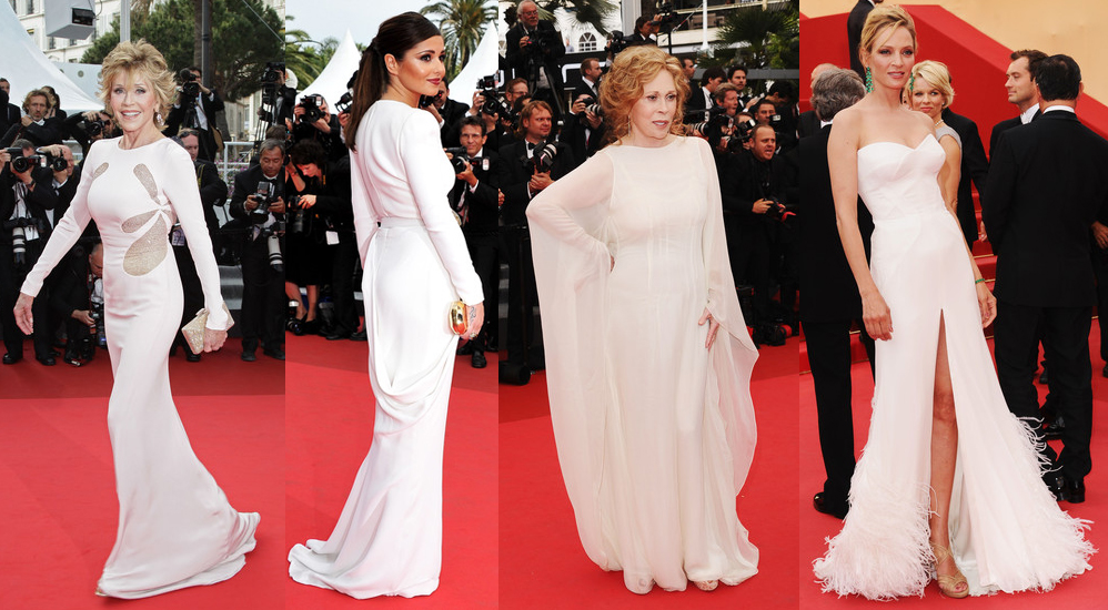 764651ae912 White gowns red carpet cannes film festival 2011