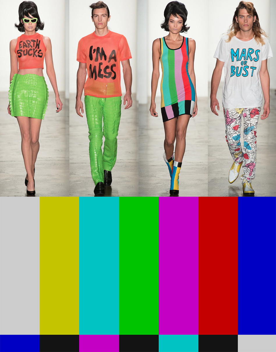 jeremy scott ss14 - fashion gives up on earth