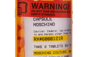 moschino pill bottle phone case